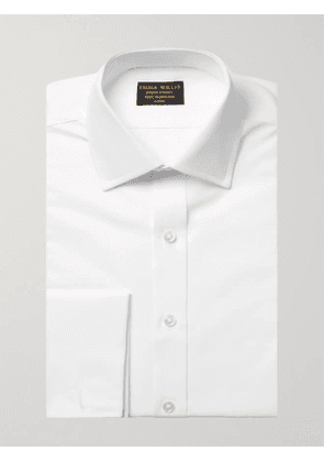 EMMA WILLIS - White Double-Cuff Cotton Shirt - Men - White - UK/US 15