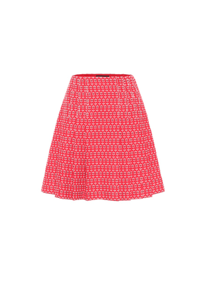 Cotton and wool jacquard miniskirt