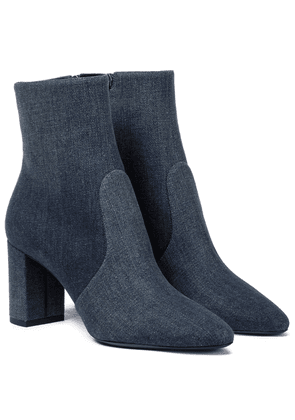 Loulou 75 denim ankle boots