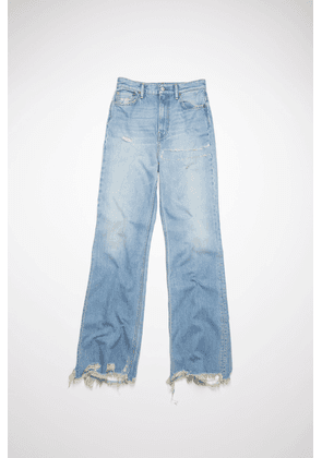 Acne Studios Acne Studios 1990 Thigh Patch Light blue Bootcut fit jeans