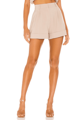 The Bar The Dylan Short in Beige. Size 0, 6.