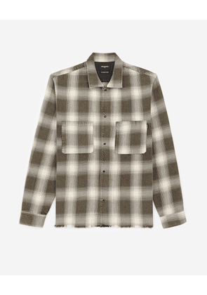The Kooples - Black and white printed cotton shirt - MEN