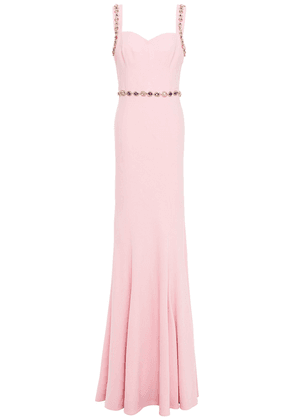 Dolce & Gabbana Crystal-embellished Stretch-crepe Gown Woman Pink Size 42