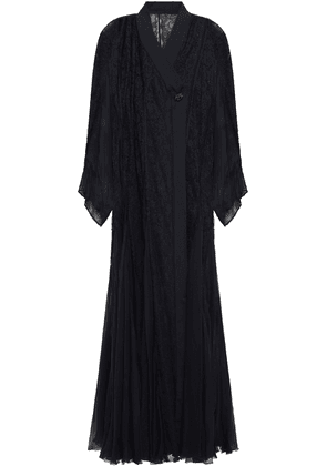 Dolce & Gabbana Crystal-embellished Silk-blend Corded Lace And Chiffon Gown Woman Black Size 44