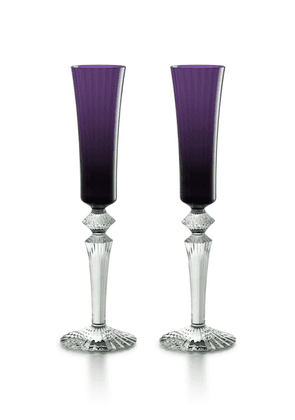Baccarat - Set-Of-Two Flutissimo Flutes  - Color: Purple - Material: crystal - Moda Operandi