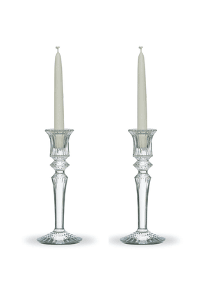 Baccarat - Set-Of-two Mille Nuits Candlesticks - Color: White - Material: crystal - Moda Operandi