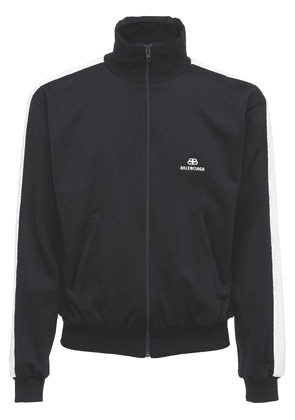 Logo Zip-up Nylon Jacket W/side Bands