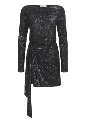 Sequined Draped Mini Dress