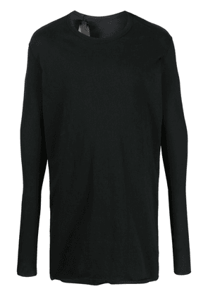 Boris Bidjan Saberi round neck long-sleeved T-shirt - Black