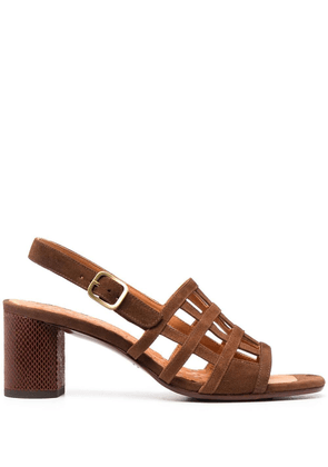 Chie Mihara Huni cut-out suede sandals - Brown