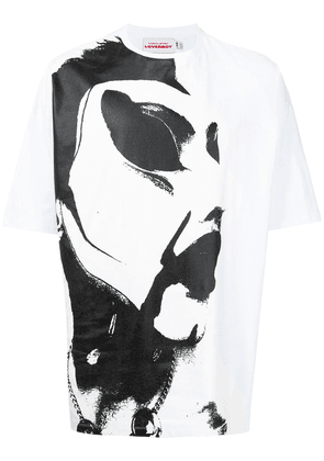 Charles Jeffrey Loverboy Scowl-print cotton T-shirt - White