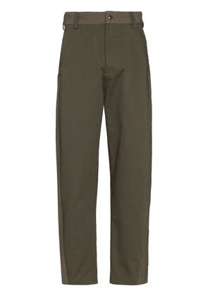 Valentino panelled loose-fit trousers - Green