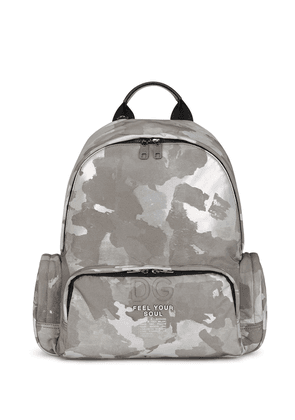 Dolce & Gabbana camouflage-print backpack - White