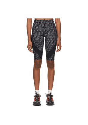Burberry Grey and Black Monogram Andrea Bike Shorts