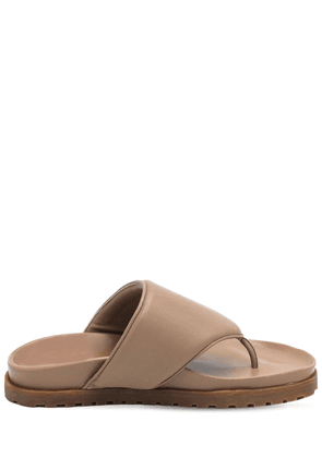 20mm Padded Leather Thong Sandals