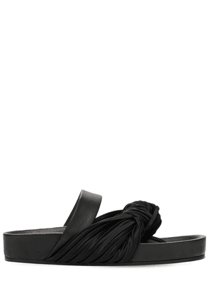 20mm Satin & Leather Thong Sandals