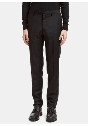 male Black 71% wool, 29% mohair. Dry clean only