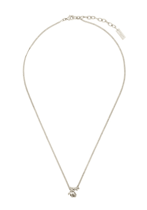 Saint Laurent interlocking logo necklace - Silver