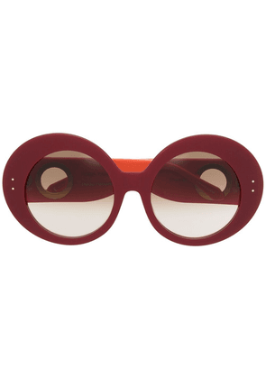 Linda Farrow x Paco Rabanne oversized frame sunglasses - Red