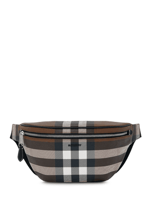 Burberry check pattern belt bag - Brown