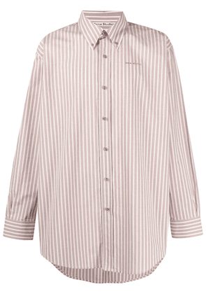 Acne Studios striped button-down shirt - Pink