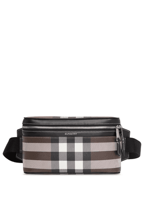Burberry checked cube belt bag - Brown