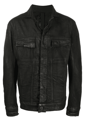 Boris Bidjan Saberi distressed-effect denim jacket - Black