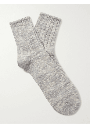 ANONYMOUS ISM - Mélange Cotton-Blend Socks - Men - Gray