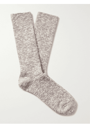 ANONYMOUS ISM - Slub Cotton-Blend Socks - Men - Gray