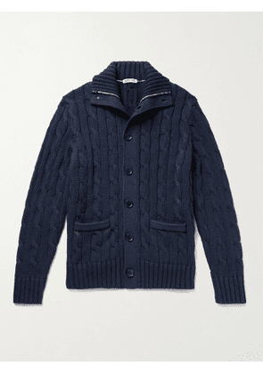 ALEX MILL - Cable-Knit Cotton Cardigan - Men - Blue - XS