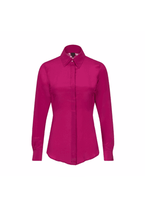 Sophie Cameron Davies - Berry Pink Fitted Silk Shirt