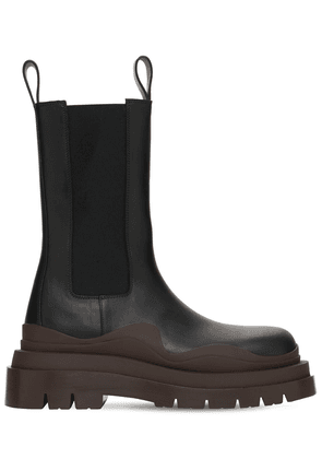 50mm Bv Tire Leather Beatle Boots