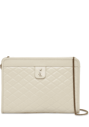 Victoire Baby Quilted Leather Clutch