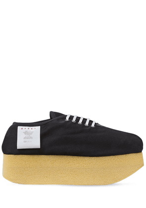 50mm Raw Cotton Canvas Sneakers