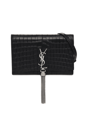 Kate Croc Embossed Leather Chain Wallet