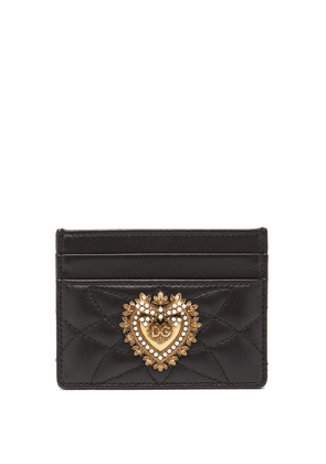Dolce & Gabbana - Devotion Quilted-leather Cardholder - Womens - Black