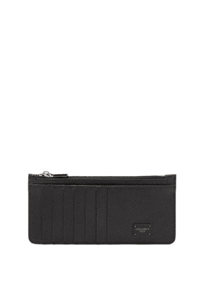Dolce & Gabbana - Logo-plaque Grained-leather Cardholder - Mens - Black
