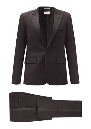 Saint Laurent - Single-breasted Wool-crepe Suit - Mens - Black