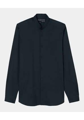 The Kooples - Stretch cotton poplin shirt with a stand-up collar - MEN