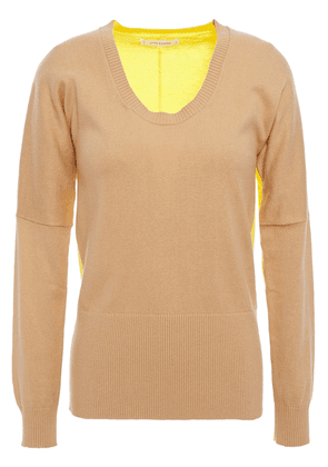 Chinti & Parker Two-tone Cotton And Cashmere-blend Sweater Woman Sand Size L