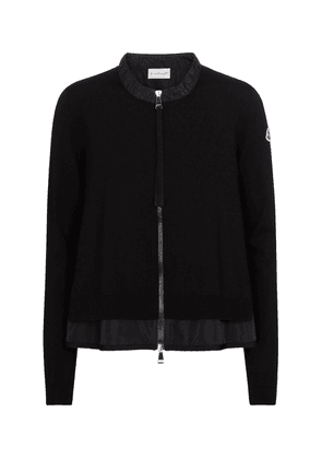 Technical-trimmed cardigan