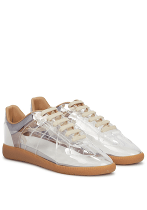 Replica PVC and leather sneakers