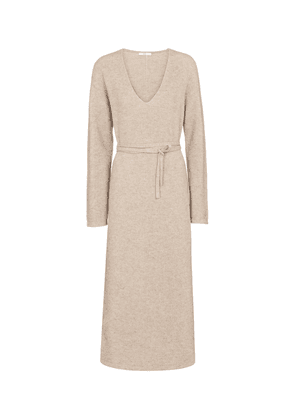 Ribbed-knit wool and cashmere maxi dress