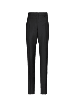 High-rise slim wool and mohair pants