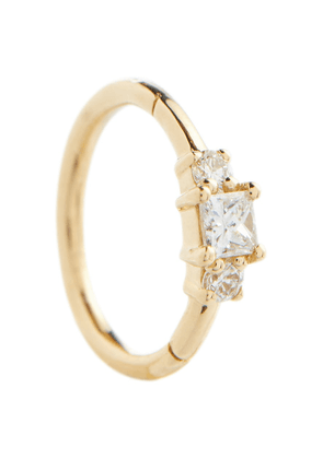 18kt gold single earring with diamonds