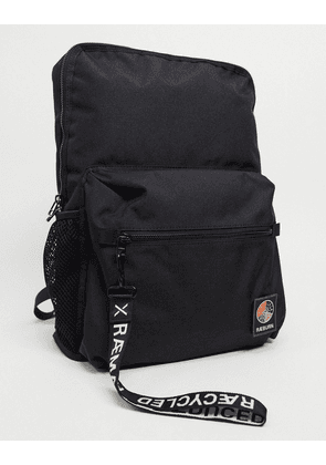 Raeburn recycled polyester rucksack in black