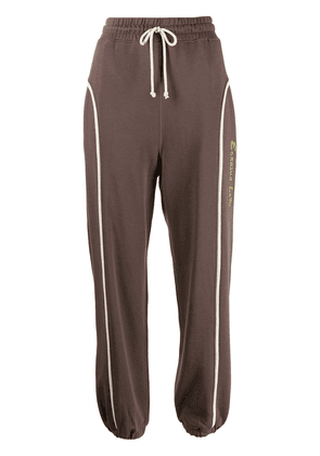 Eckhaus Latta striped cotton track pants - Brown