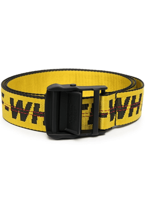 Off-White logo-embellished Industrial belt - Yellow