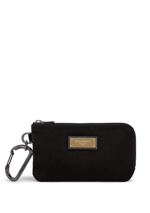 Dolce & Gabbana logo-plaque clutch bag - Black