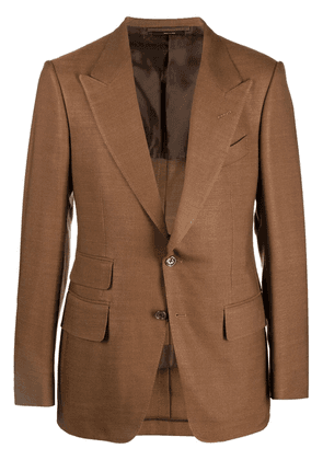 TOM FORD Shelton single-breasted blazer - Brown